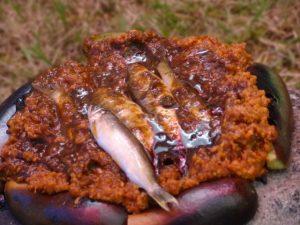 鮎の石焼き
