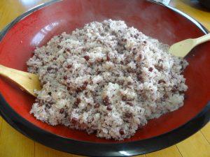 古代米入り お赤飯