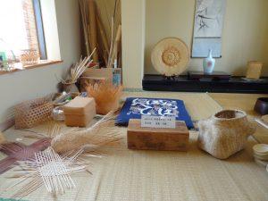 本田青海さん 竹の作業