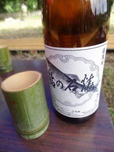 鮎の会に差し入れされた 地酒
