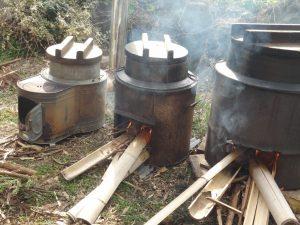 湯を沸かして 準備