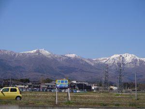 金北山の残雪