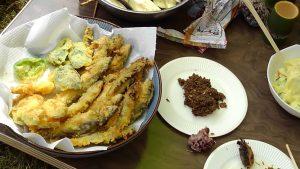 天ぷら 鮎味噌