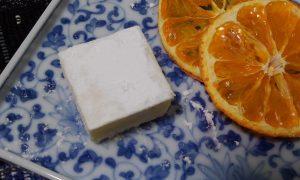 佐渡産オレンジを乾燥して