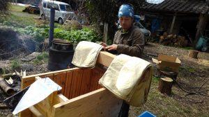 搾り袋 搾り師の自作の船