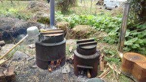 箱根清水を沸かす