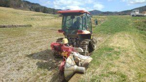畦塗の機械