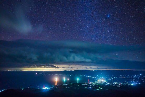 ドンデン山からの夜景