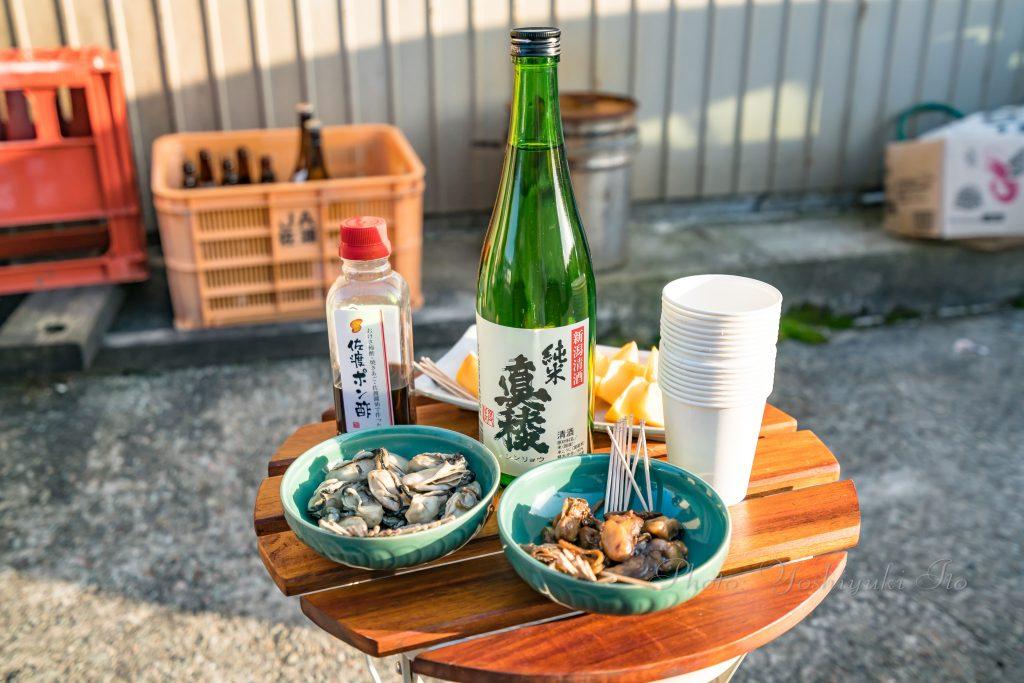 加茂湖の牡蠣と柿