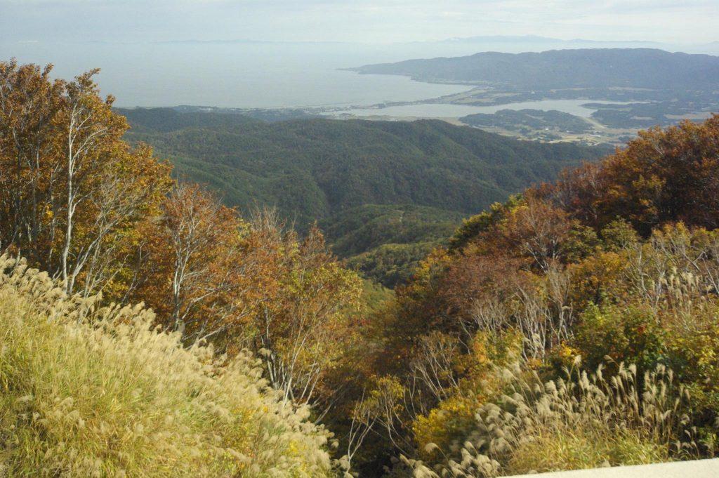 山頂から真野湾